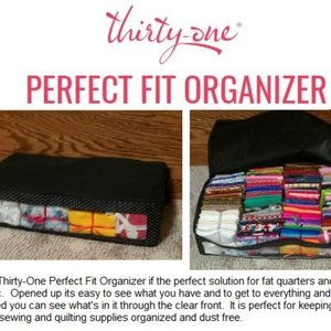thirty-one Storage & Organization - NEW Perfect Fit Organizer Thirty One Coral Gingham